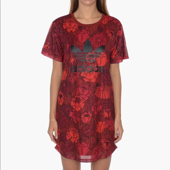 adidas rose tee dress